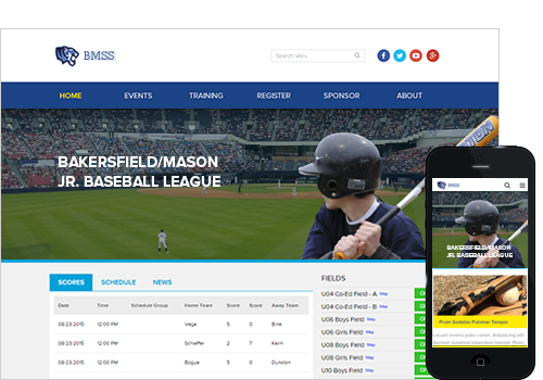 Baseball Website Software