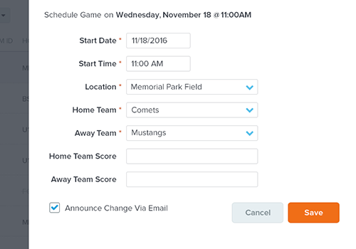 Soccer Scheduling Software
